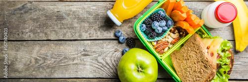 Fotografía Healthy school lunch box