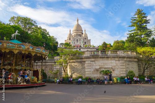 Basilica Sacre Coeur in paris фототапет