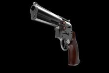 3d Illustration Of A Gun On A Black Background