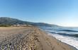canvas print picture plage de la Marana en haute Corse
