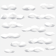 Polygon Cloud Collection, Low ...