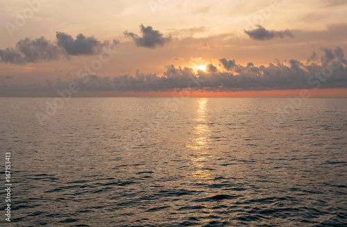 Amanecer En El Mar Con Bonitos Colores Y Reflejos En El Agua Buy This Stock Photo And Explore Similar Images At Adobe Stock Adobe Stock