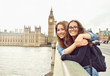 Two teenage girls on Big Ben background