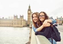 Two Teenage Girls On Big Ben B...