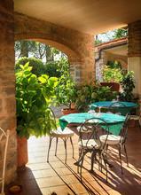 Open Terrace Cafe In Italian V...