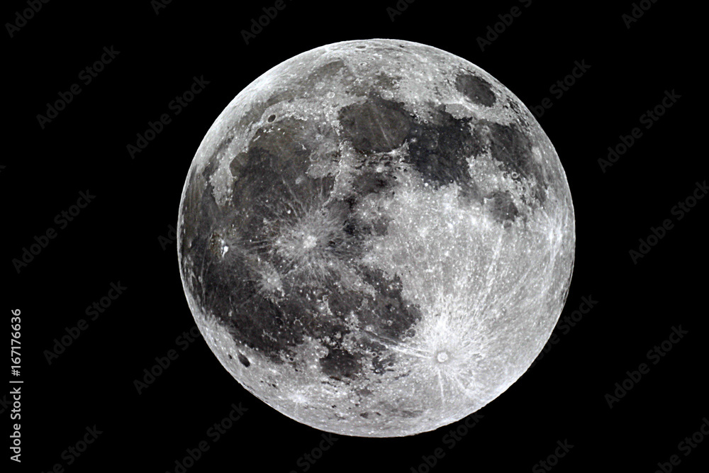 Fototapety, obrazy: Moon background / The Moon is an astronomical body that orbits planet Earth, being Earth's only permanent natural satellite