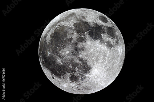 Cuadros en Lienzo Moon background / The Moon is an astronomical body that orbits planet Earth, bei