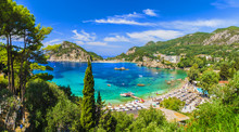 Palaiokastritsa Beach On Corfu Islands, Greece.