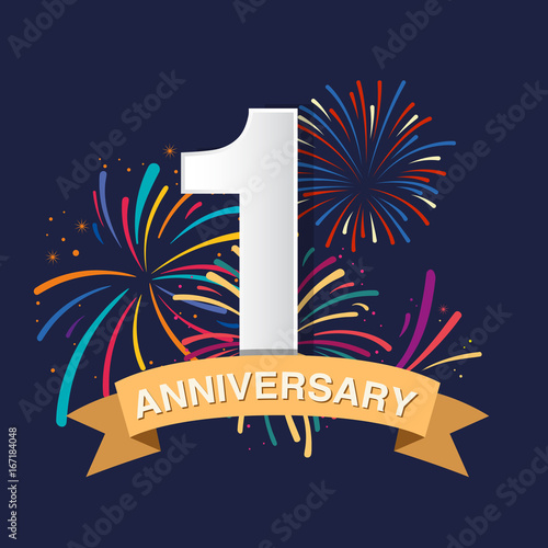1st anniversary logo design buy this stock vector and explore similar vectors at adobe stock adobe stock 1st anniversary logo design buy this