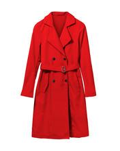Red Elegant Woman Autumn Coat ...