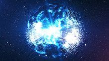 Spheri Big Bang Explosion In The Universe