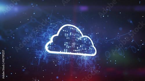 Cloud System Technology Concept