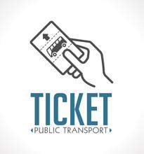 Public Transport Ticket Logo -...