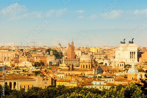 Photo  Aerial panoramic view of historic center of Rome, Italy