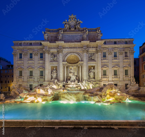 Trevi Fountain - the largest and most famous of the fountains of Rome Canvas Print