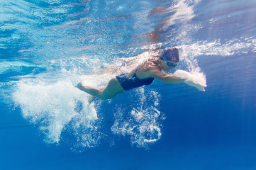 Swimmer in motion