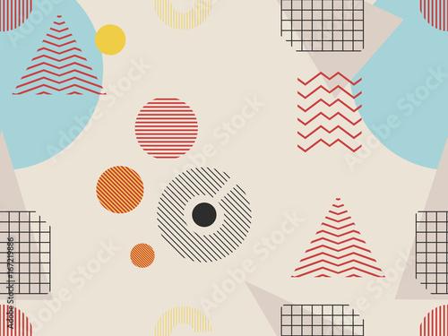 Photo  Memphis seamless pattern