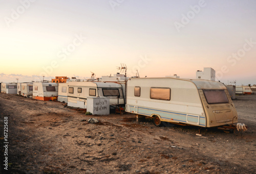 Photo Caravan Park in the Desert