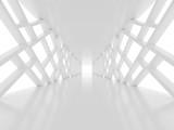 Fototapeta Fototapety do przedpokoju - Futuristic white tunnel