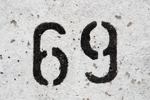 69 Stenciled On Wall