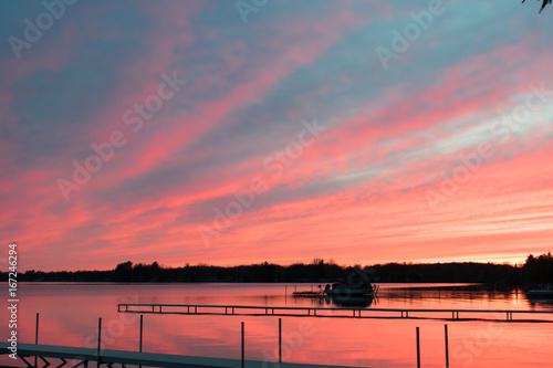 Fotografie, Obraz  Spring Sunset