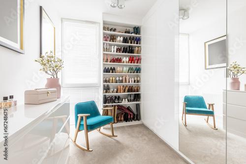 Cuadros en Lienzo  Dreamy wardrobe with shoe closet