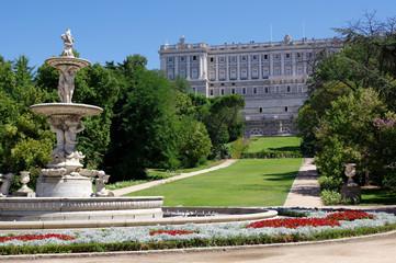 jardin du palais royal, madrid