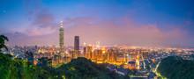 City Of Taipei Skyline At Twil...