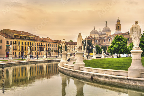 Fototapeta Padova - Prato della Valle square and Santa Giustina basilica - Veneto - Italy