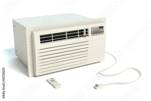 3d illustration of a window air conditioner Wallpaper Mural