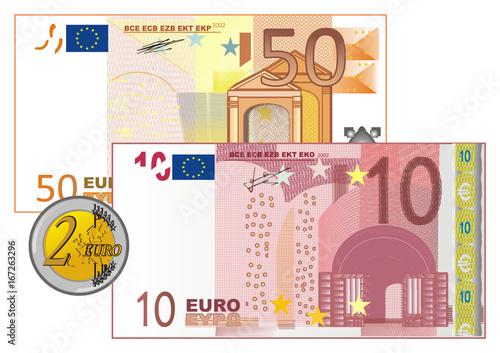 Euro Banknotes Money Denomination Cash Illustration Cartoon