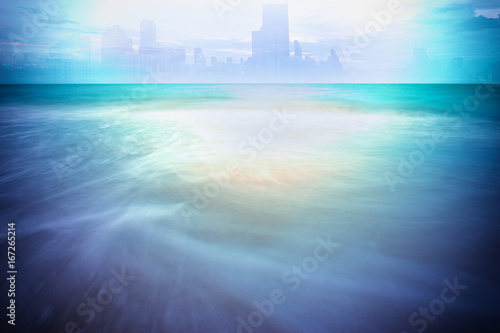 Photographie  abstract surreal of seascape on long exposure