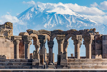 Ruins Of The Zvartnos Temple In Yerevan, Armenia