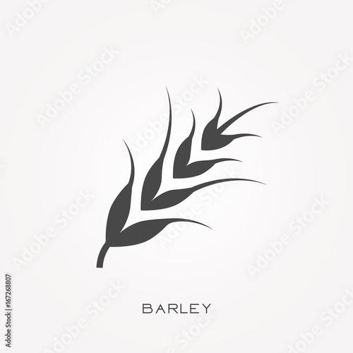 Fotografie, Tablou Silhouette icon barley