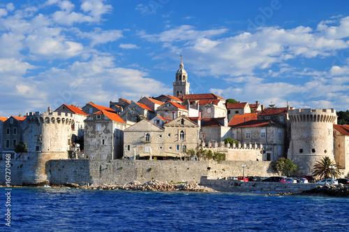 Fotografie, Obraz Korcula Korčula houses fort
