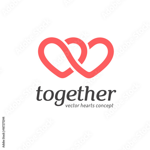 Fotografie, Obraz  Vector logo concept. Hearts icon