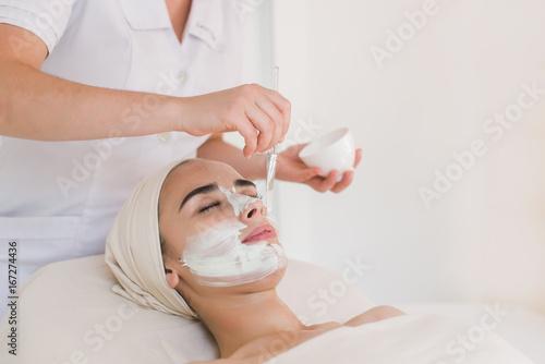 Fotografie, Obraz  Spa facial mask application
