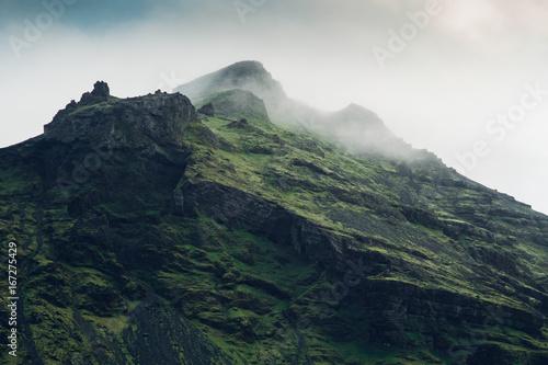 Obraz na plátně Misty Mountains in Iceland
