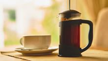 A Fresh Brew Of Coffee In A Ca...