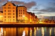 Leinwanddruck Bild -  North Quay in center of Helsinki