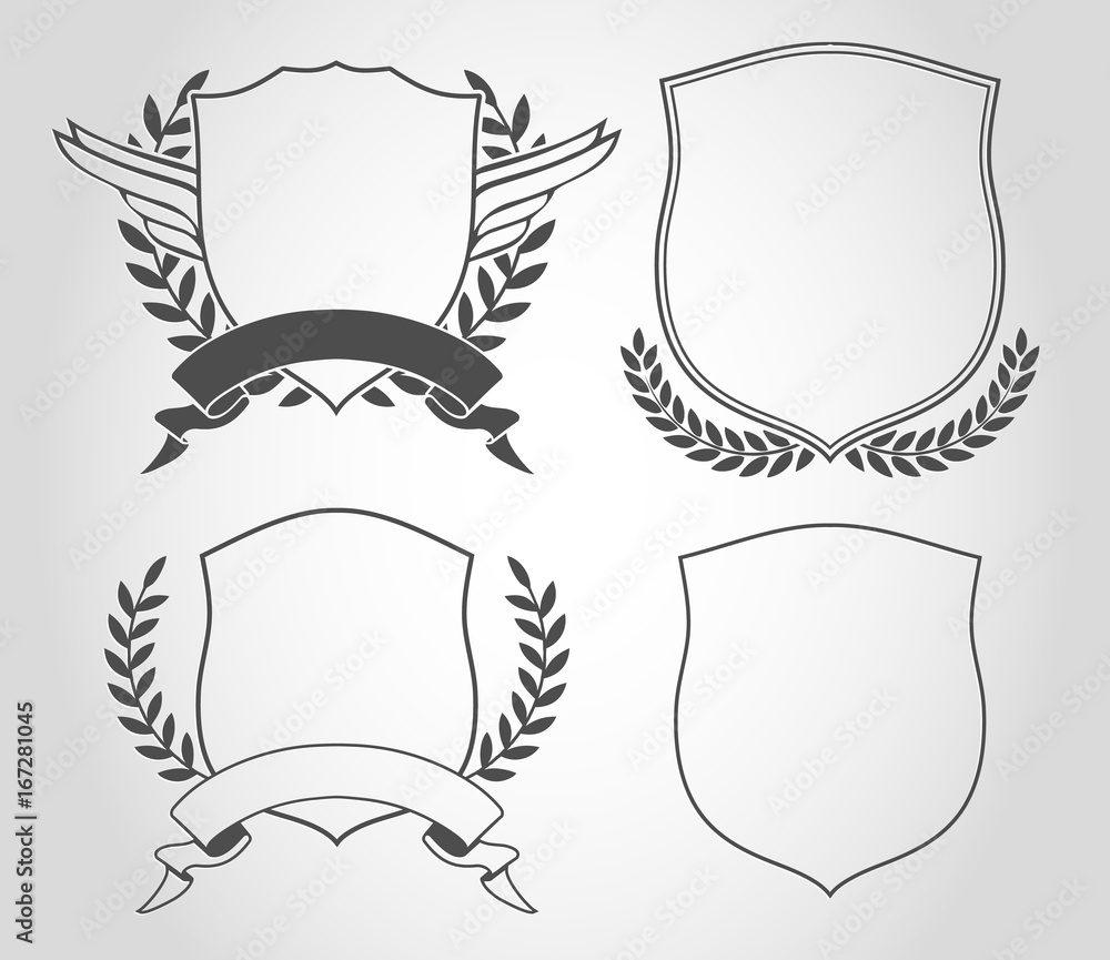 Fototapeta shield set design