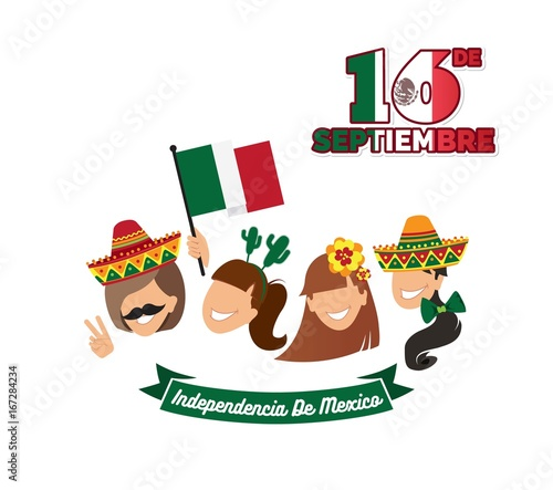 16 september mexico happy independence day greeting card group of mexico happy independence day greeting card group of happy girls with different m4hsunfo
