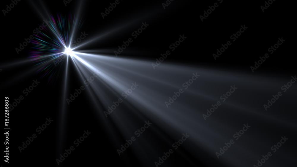 Fototapety, obrazy: Lens flare effect on dark background. Digital illustration.