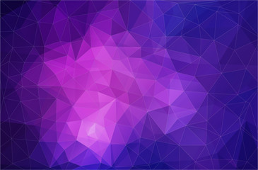 Flat violet triangle geometric wallpaper