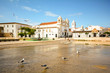 View to church Igreja de Santo Antonio in the old town of the historic centre of Lagos, Algarve Portugal