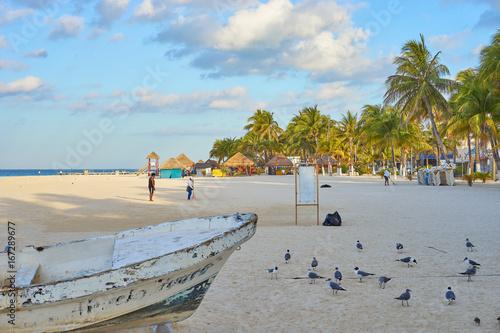 "Fotografie, Obraz  North Beach of ""Isla Mujeres"" in Mexico / Caribbean Island with very nice beache"