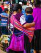 Leinwanddruck Bild View on indigenous maya woman in village of Todos Santos Cuchumatan in Guatemala