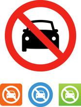 No Cars Icon - Illustration