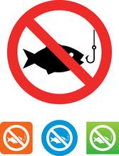 No Fishing Icon - Illustration