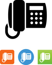 Office Phone Icon - Illustration
